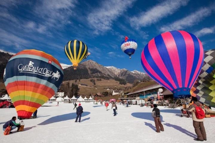 Vuelo en globo por Gstaad, Suiza. Foto: Sitio Web