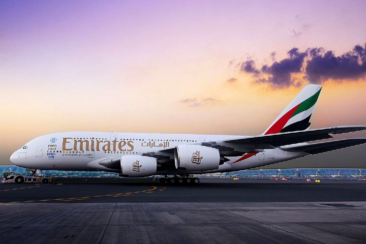 Airbus A380 Emirates Foto EA