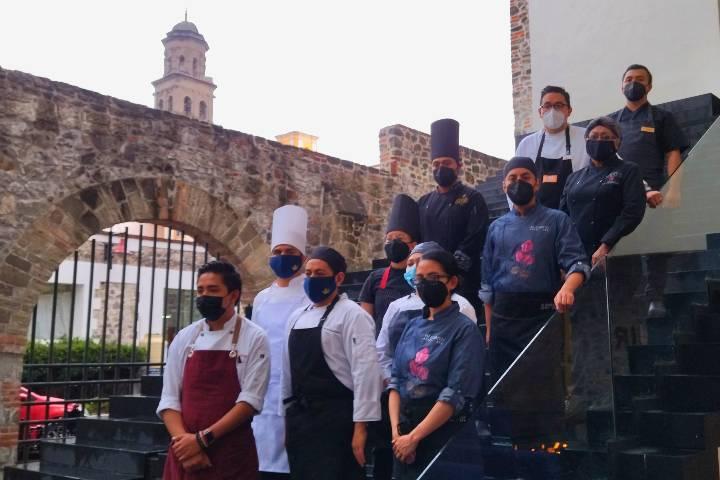 Chefs de restaurantes en Temporada de Chiles en Nogada 2021 Foto El Souvenir