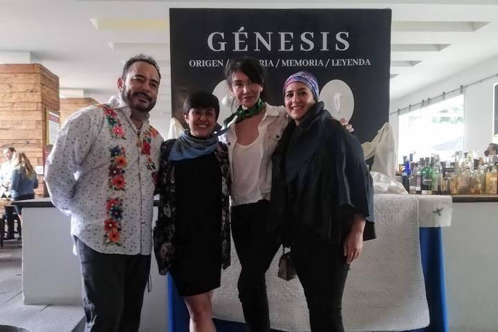 Mafalda Budid, Marja Godoy, MArtha Ortiz y Ricardo Muñoz - Foto Luis Juárez J.