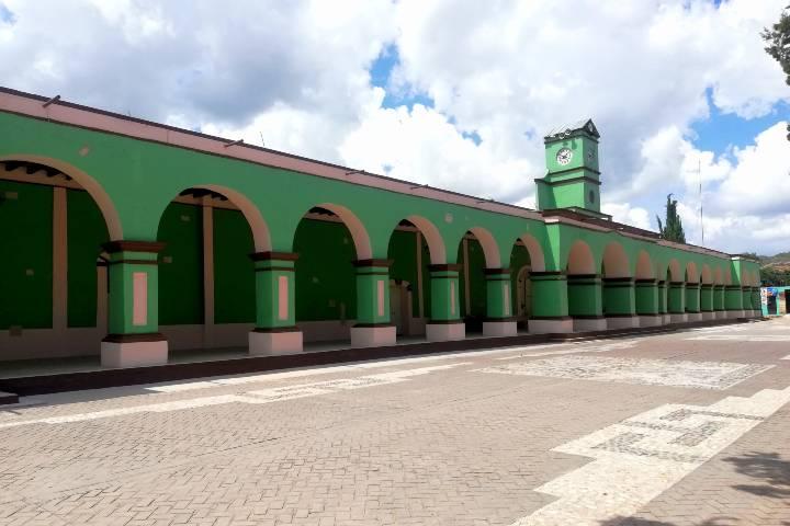 Palacio Municipal de Yanhuitán – Foto Luis Juárez J.