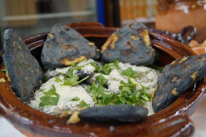 Tlacoyos en la SNP. Foto: Puebla Travel