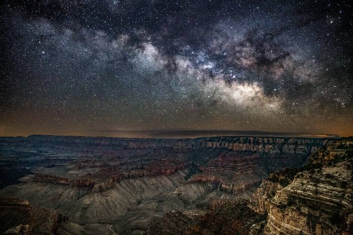 Via láctea en el Gran Cañon, Arizona. Foto: JT ASTK