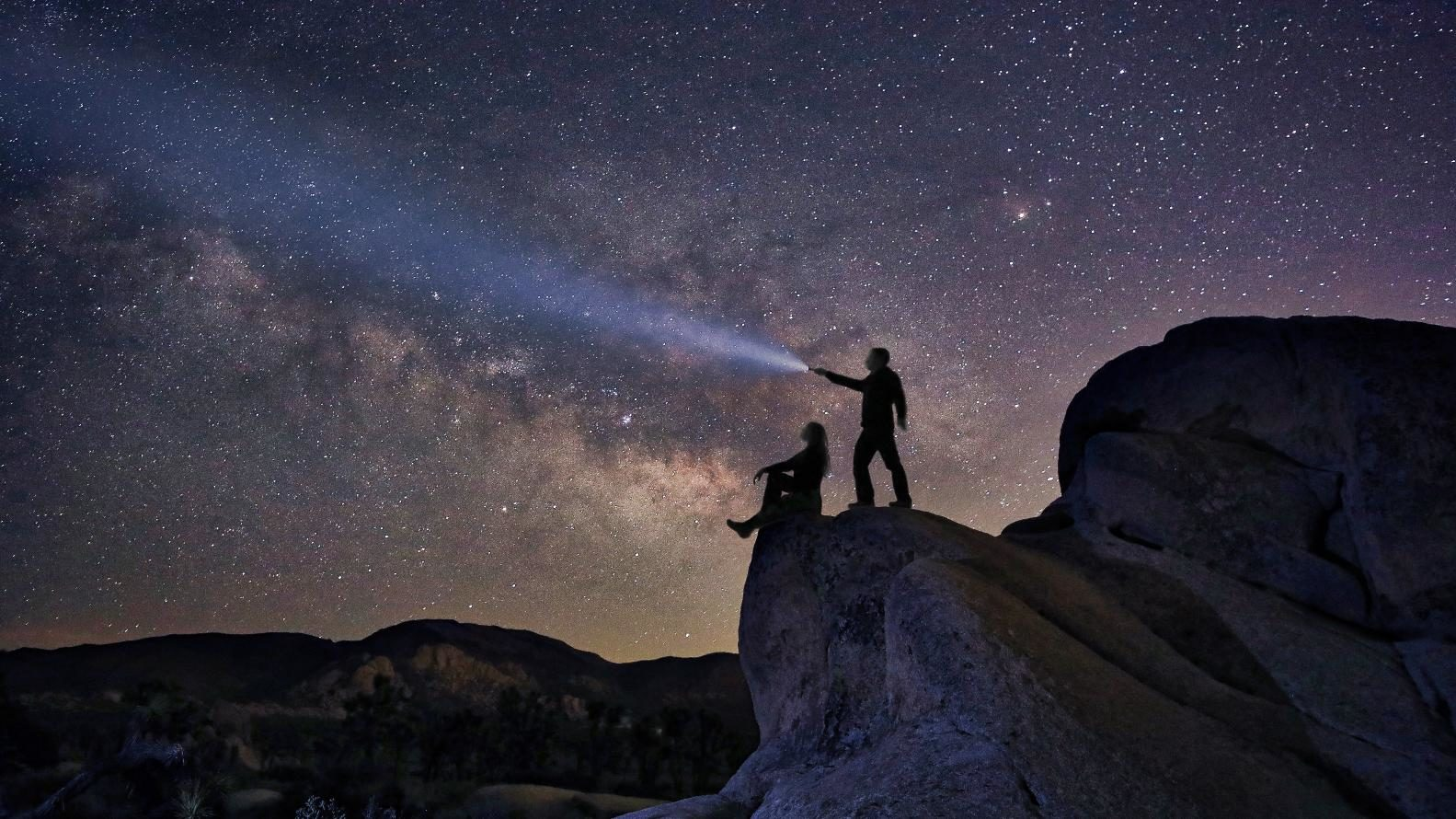 Pareja en Noche estrellada Foto JT ASTK