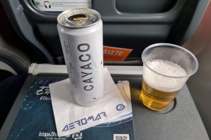 Una bebida orgullosamente mexicana. Foto por Aeromar.